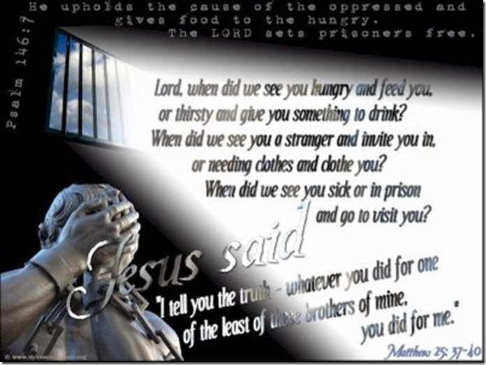 GODS BLOG ORG matthew-25 HE SET THE PRISONERS FREE